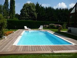 Eclairage Terrasse Piscine : terrasse bois et tour de piscines clairage led yvelines 78 ~ Melissatoandfro.com Idées de Décoration