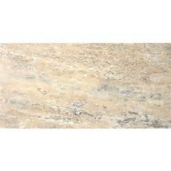 faber 12 in x 24 in vein cut silver travertine floor tile