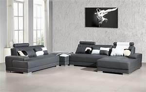 phantom contemporary grey leather sectional sofa w ottoman With gray sectional sofa with ottoman