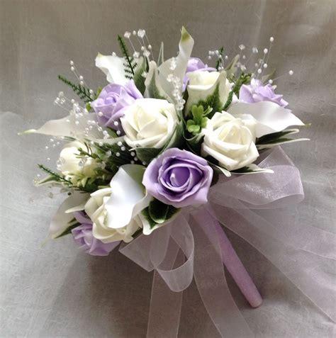 posy artificial wedding flowers cala lilies  ivory