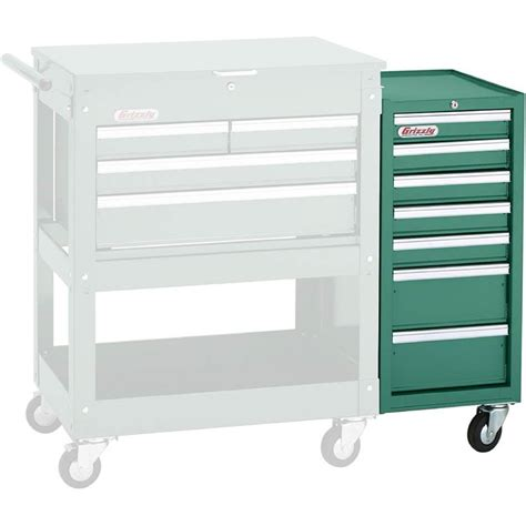 Tool Chest Side Cabinet by H7729 Grizzly 7 Drawer Side Tool Cabinet Ebay