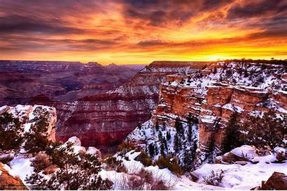 Canyon Grand Arizona Flagstaff Sunrise Sunset Az