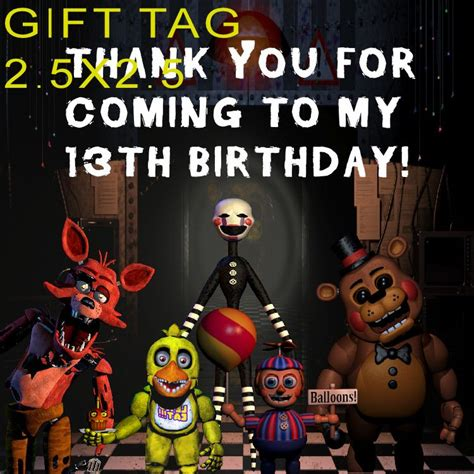 Gift cards are delivered by email and contain instructions to redeem them at checkout. Five nights Freddy Gift Tag - to place orders or follow me on Facebook place click image twice ...