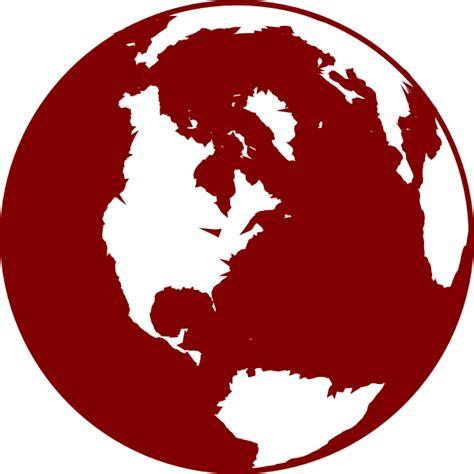 red globe clip art  clkercom vector clip art