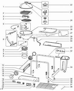 Weber 1482001 Parts List And Diagram   Ereplacementparts Com