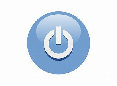 Button Power Icon Transparent Background Save Clip