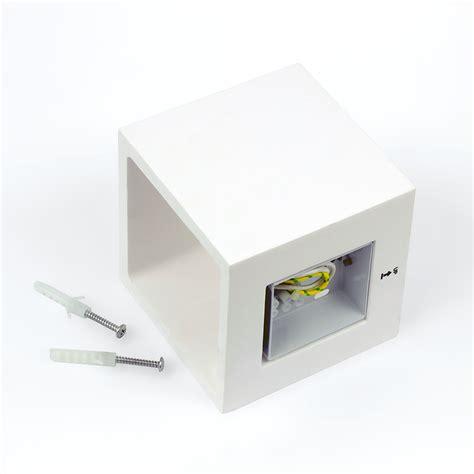 ceramic led cube shape wall light quot plaster 2 quot g9 3w 250lm incl warm paintable ebay
