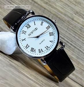 Römische Zahlen Uhr : herrenuhr armbanduhr in schwarz weiss slim uhr klassisch r mische zahlen uhr 12 ~ Orissabook.com Haus und Dekorationen