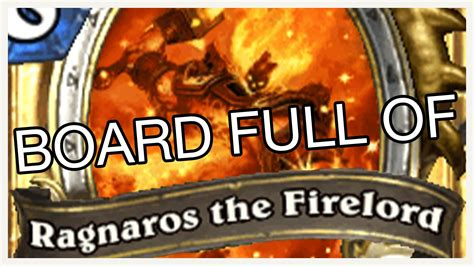 board full of ragnaros the firelord hearthstone