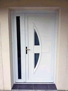 Pose D39une Porte D39entre En PVC Blanc Modle Ginseng