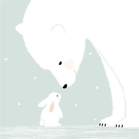 chambre bébé hello affiche chambre bébé zü affiche ours polaire et lapin blanc