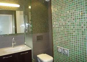 renovation salle de bain a paris entreprise tce With salle de bain mosaique verte