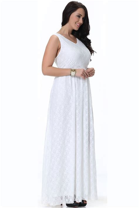 longdress cc61140 unomatch wedding sleeveless v neck plus size dress