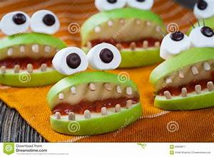 Homemade Halloween Scary Food Monsters Natural Stock Photo