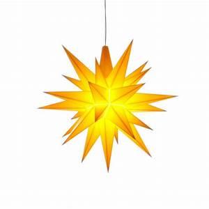 Herrnhuter Stern Beleuchtung : herrnhuter weihnachtsstern gelb aus kunststoff 13cm ~ Michelbontemps.com Haus und Dekorationen