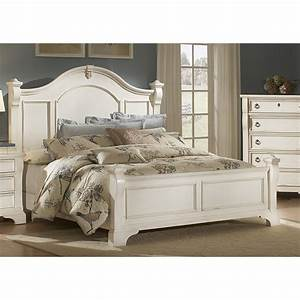 American woodcrafters heirloom antique white poster bed for American home furniture beds
