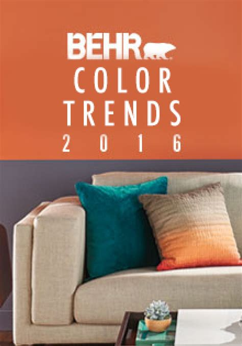 the 2016 behr color trends will help to inspire a new