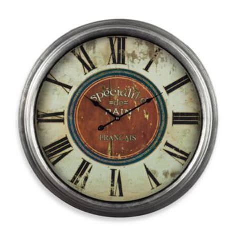 bed bath and beyond decorative wall clocks buy silver wall clock from bed bath beyond