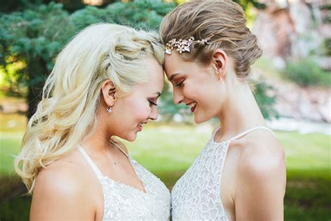 modern lesbian wedding styled shoot colorado weddings