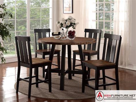 meja makan bulat satu set asia furniture jepara
