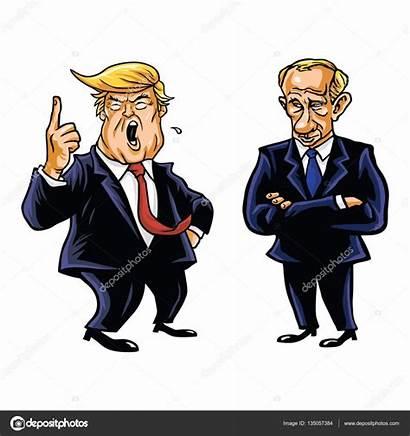 Trump Putin Cartoon President Donald Karikatuur Verenigde