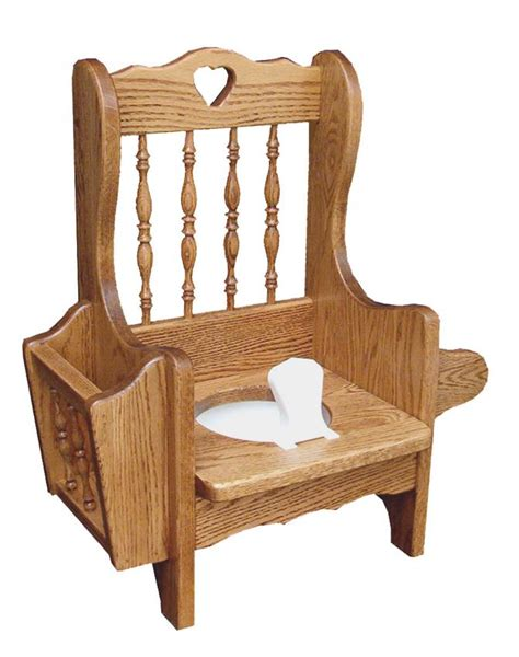 oak wood spindle potty chair from dutchcrafters amish