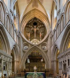 File Wells Cathedral Arches  Somerset  Uk