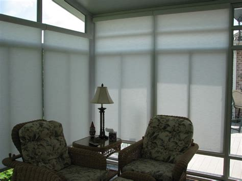 sunroom motorized solar shades eclectic roller shades