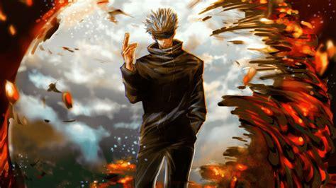 satoru gojo  fire hd jujutsu kaisen wallpapers hd