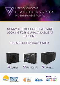 Heatseeker Vortex Inverter Swimming Pool Heat Pump
