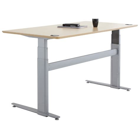 sit stand desk base shop conset 501 29 laminate electric sit stand desk
