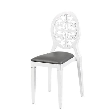 chaise grise et blanche chaise baroque blanche et grise