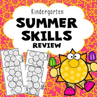 Ms Moran's Kindergarten Kindergarten Summer Review Packet