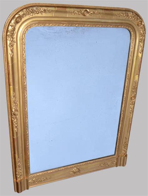 miroirs anciens bois dore beau miroir ancien platre et bois dor 233 224 poser