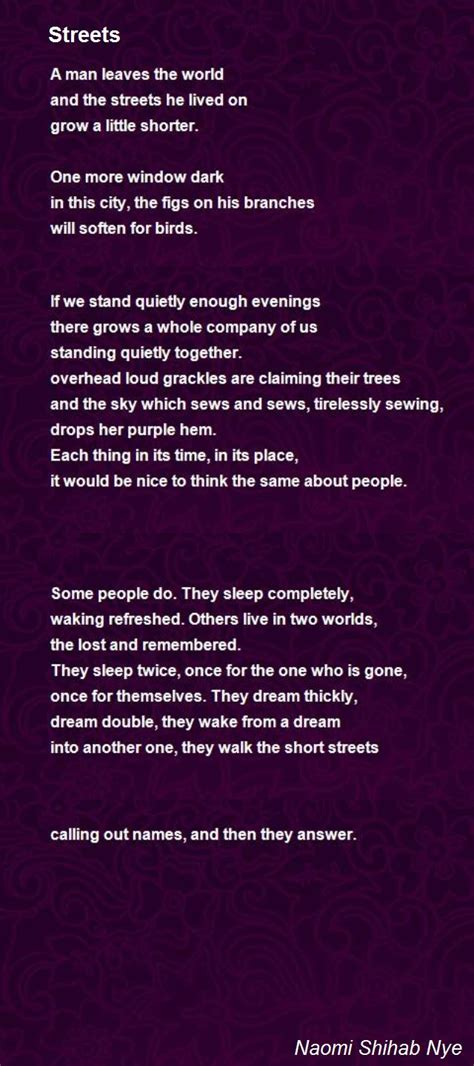 streets poem  naomi shihab nye poem hunter