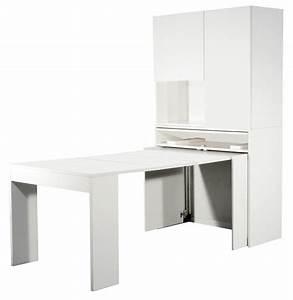 Table Cuisine Blanche : console extensible blanche avec rangements mingo ~ Teatrodelosmanantiales.com Idées de Décoration