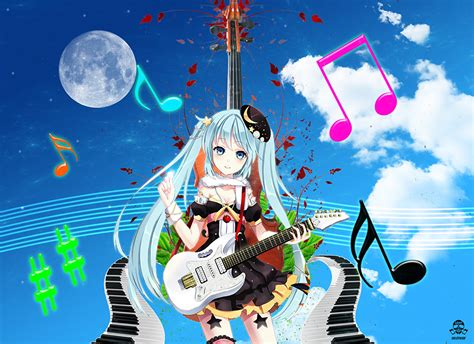 Anime Guitar Wallpaper - wallpaper vocaloid guitar anime