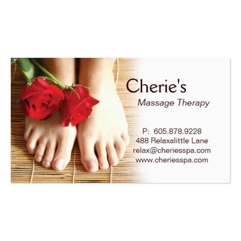 premium massage business card templates page