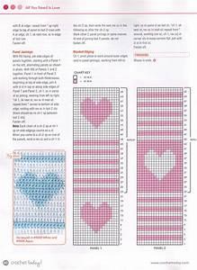 Heart And Stripes Baby Blanket Crochet Pattern  U22c6 Crochet