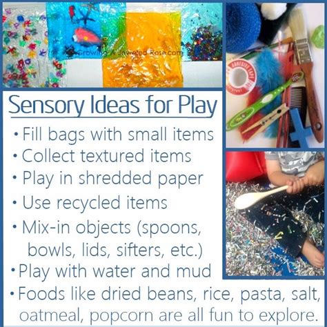 sensory activities   year olds