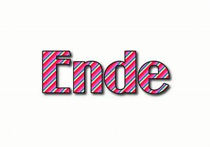 Ende Word Stripes Mach Dieses Flaming Logos
