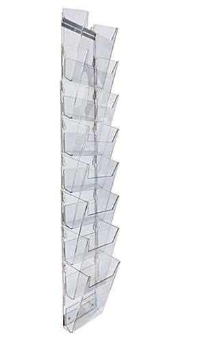 wall mount magazine rack hanging magazine holder 8 view pockets acrylic