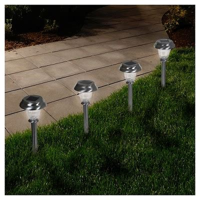 how do solar path lights work led solar classic glass pathway lights set of 6 pure