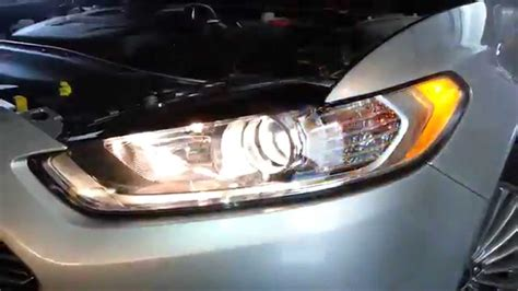 2014 ford fusion testing headlights after changing bulbs