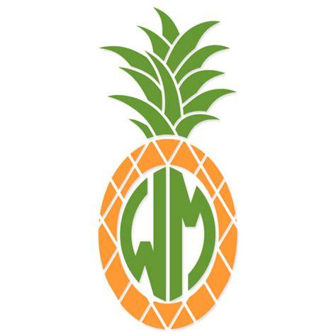 pineapple svg monogram cuttable frames