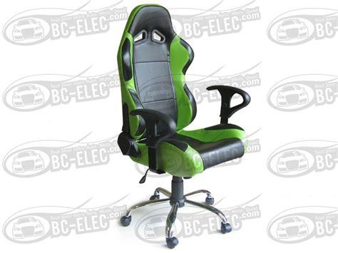chaise baquet siege baquet fauteuil de bureau cuir vert 1 noir pied