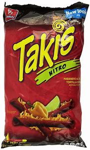 Barcel Takis Extreme Hot Chili Pepper Lime Tortilla Chips