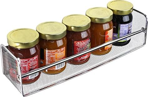 Single Spice Rack decobros 2 pack wall mount single tier mesh spice rack