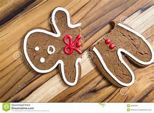 Broken Gingerbread Man Stock Photo - Image: 53000591