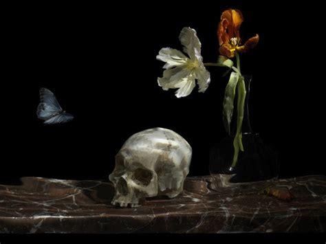 Definition De Vanité En by Exploding Flowers Skulls And At Guildhall